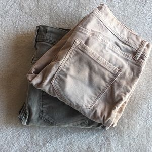FREE PEOPLE Corduroy Crop Jeans